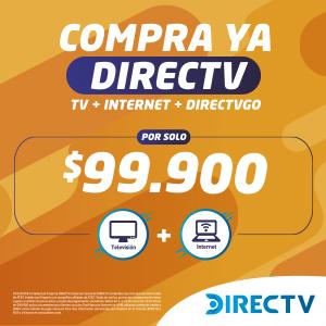 COMBO DIRECTV BUNDLE INTERNET + TV + DIRECTVGO POR SOLO $99.000 COP